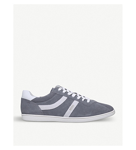 BOSS Rumba suede trainers (Grey
