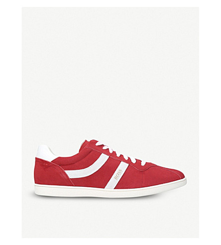 BOSS Rumba suede trainers (Red