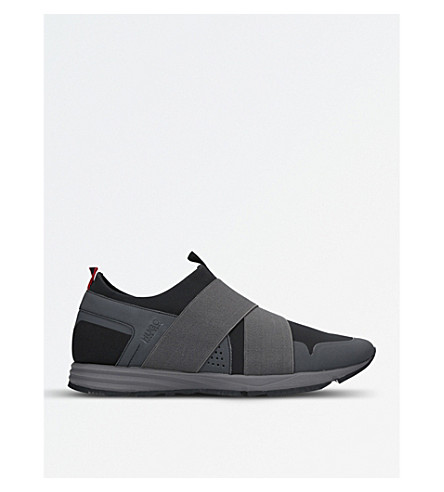 BOSS H Hybrid neoprene trainers (Black