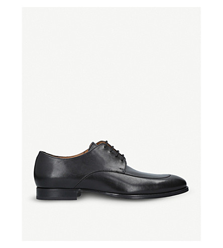 BOSS Hanover leather Derby shoes (Black
