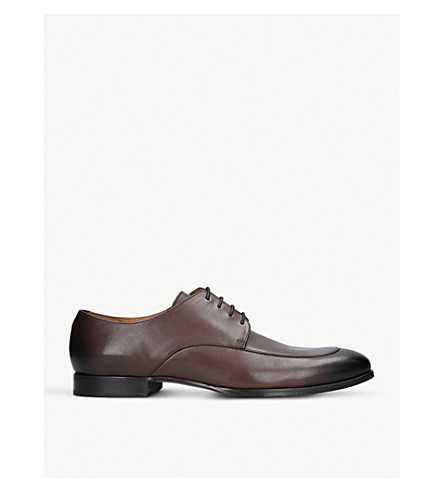 BOSS Hanover leather Derby shoes (Dark+brown