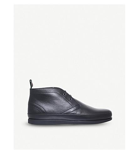 PAUL SMITH 克莱恩 Chukka 皮革靴子 (黑色