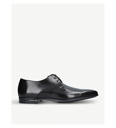 PAUL SMITH 'Spencer' Derby leather shoes (Black