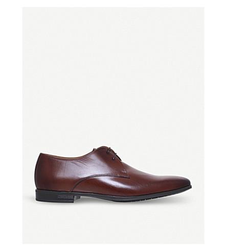 PAUL SMITH ' 斯宾塞 ' 德比皮革鞋履 (深色 + 棕色