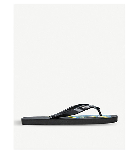 PAUL SMITH Dinosaur flip-flops (Black/comb