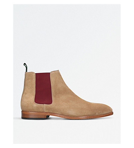 PAUL SMITH Gerald suede Chelsea boot (Camel