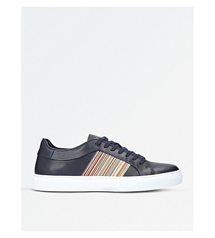 PAUL SMITH Ivo leather trainers (Blue+other