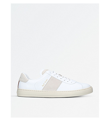 PAUL SMITH Levon leather trainers (White