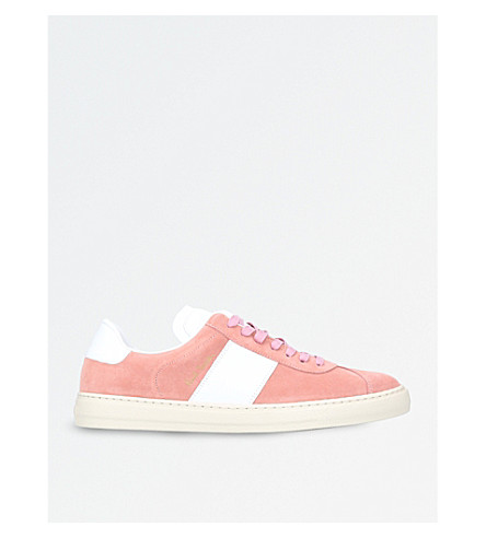 PAUL SMITH Levon suede trainers (Pale+pink