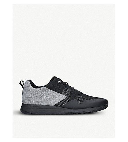 PAUL SMITH Rapid two-tone woven trainers (Blk/other