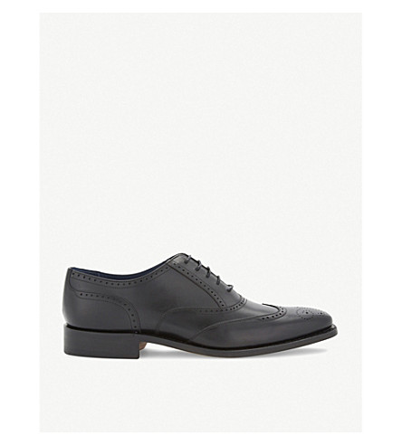 BARKER Leather oxford brogues (Black