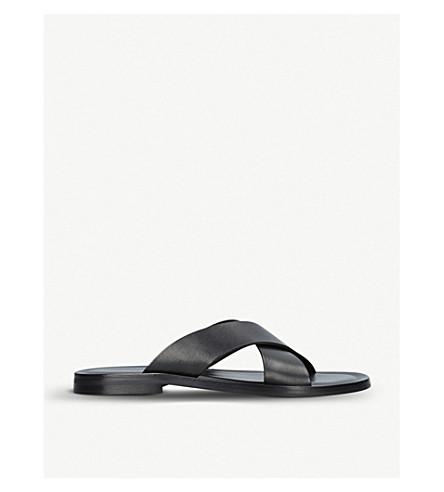 KURT GEIGER LONDON Karakum criss-cross leather sandals (Black