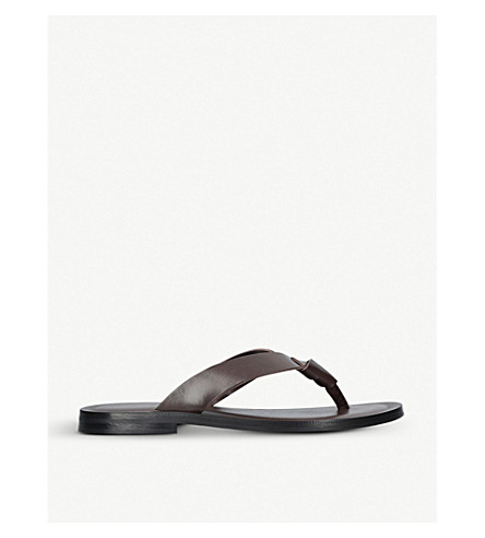KURT GEIGER LONDON Thar knot leather sandals (Brown