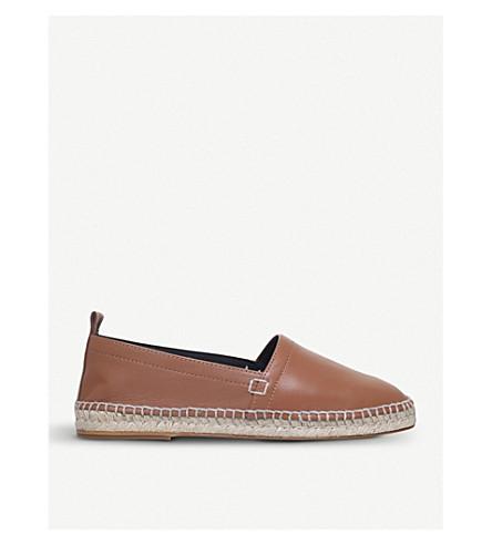 LOEWE Leather espadrilles (Tan