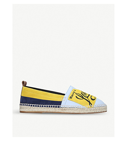 LOEWE Loewe Club leather espadrilles (Blue/pal.c