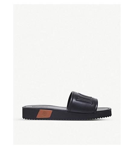 LOEWE Loewe leather sliders (Black