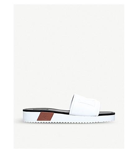 LOEWE Loewe leather sliders (White