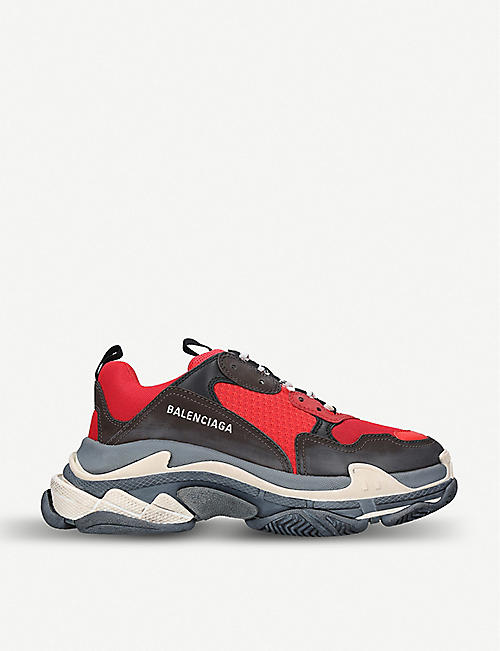 BALENCIAGA Capsule Triple S Runner leather and mesh trainers