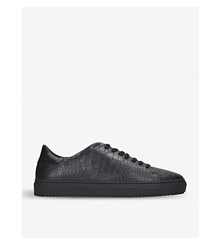 AXEL ARIGATO Clean 90 croc-effect leather trainers (Black
