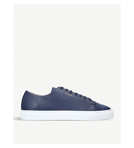 AXEL ARIGATO Toecap leather trainers (Navy