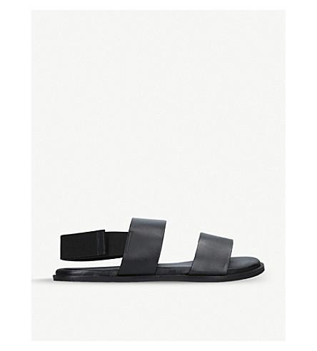 KURT GEIGER LONDON Usher leather sandals (Black