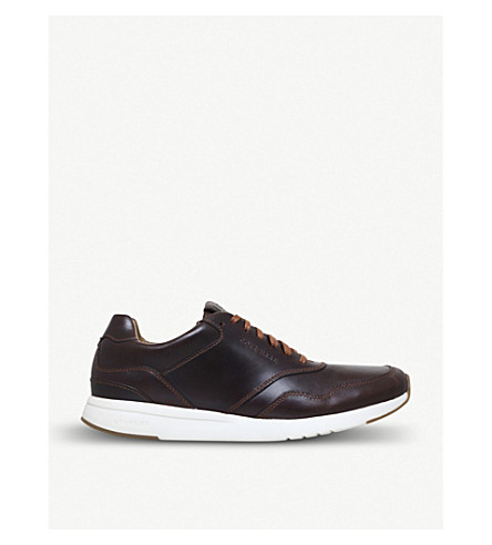 COLE HAAN Grandpro leather trainers (Brown