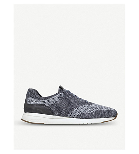COLE HAAN Grandpro Stitchlite knit trainers (Grey+mixed