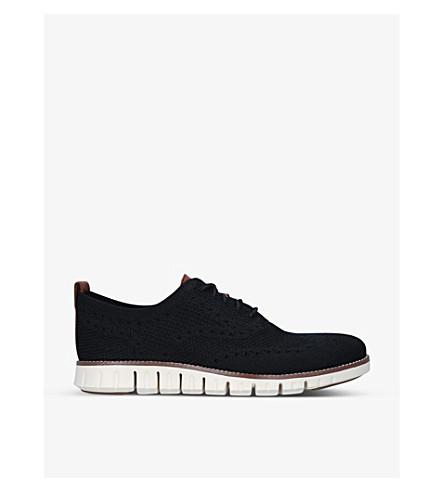 COLE HAAN Zerogrand Stitchlite knit oxford shoes (Blk/white