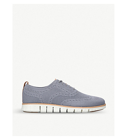 COLE HAAN Zerogrand Stitchlite knit oxford shoes (Grey/p.cmb