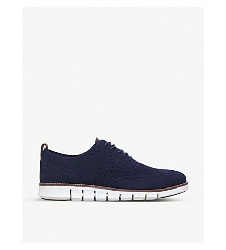COLE HAAN Zerogrand Stitchlite knit oxford shoes (Blue/pal.c