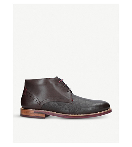 TED BAKER Daiino leather chukka boots (Brown