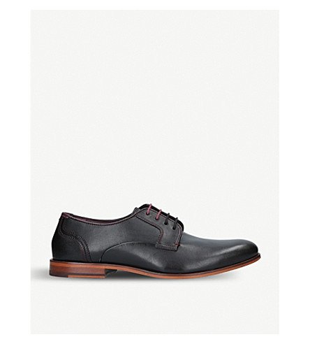 TED BAKER Iront lace-up leather Derby shoes (Black