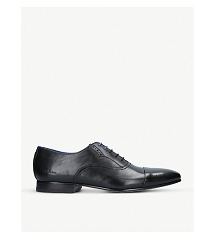 TED BAKER Murain leather oxford shoes (Black