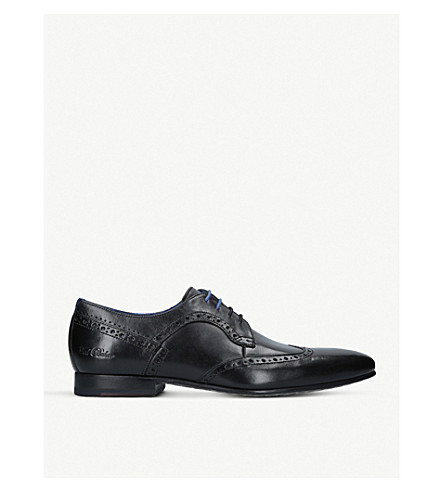 TED BAKER Ollivur leather derby shoes (Black