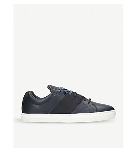 TED BAKER Quana leather trainers (Blue/dark