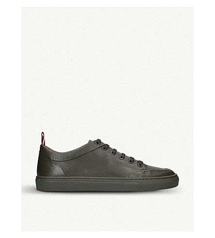 BALLY Helliot low-top leather trainers (Khaki