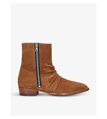 AMIRI Skinny Stack suede ankle boots (Brown