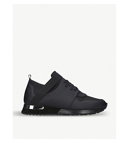 MALLET Elast leather trainers (Black
