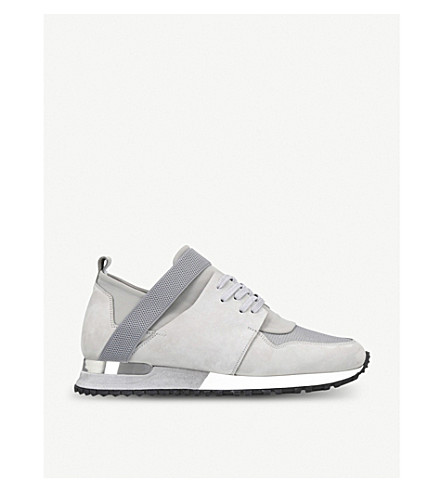 MALLET Elast leather trainers (Grey/light