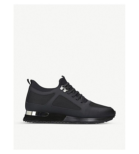 MALLET Diver leather and mesh trainers (Black