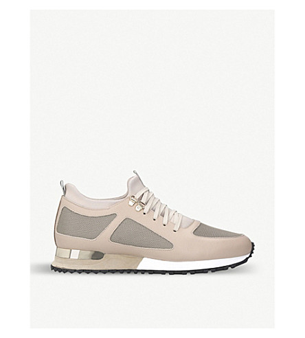 MALLET Diver leather and mesh trainers (Beige