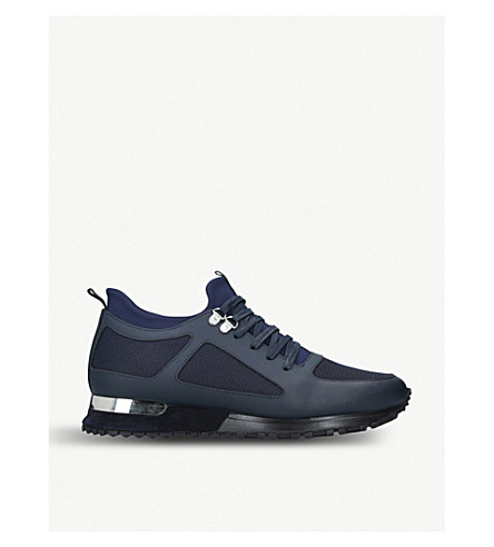 MALLET Diver leather and mesh trainers (Navy