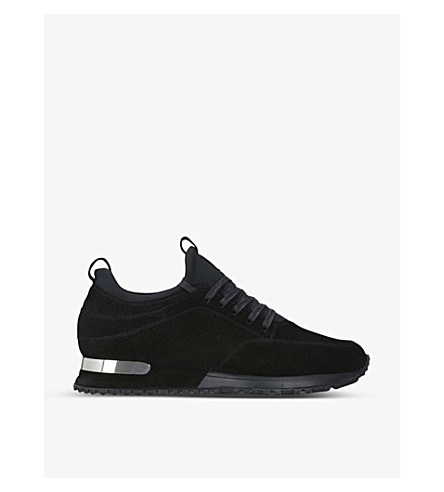 MALLET Archway suede and neoprene trainers (Black
