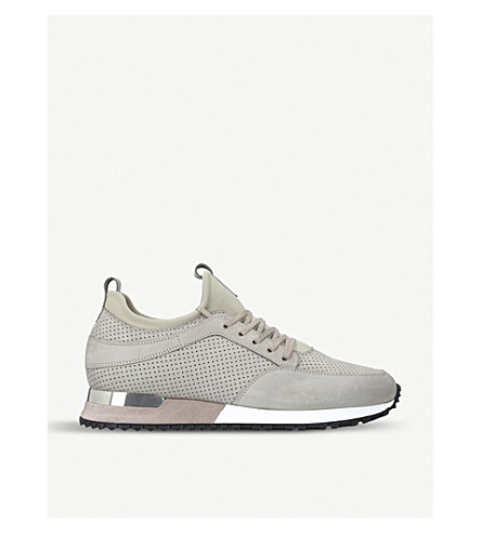 MALLET Archway suede trainers (Khaki
