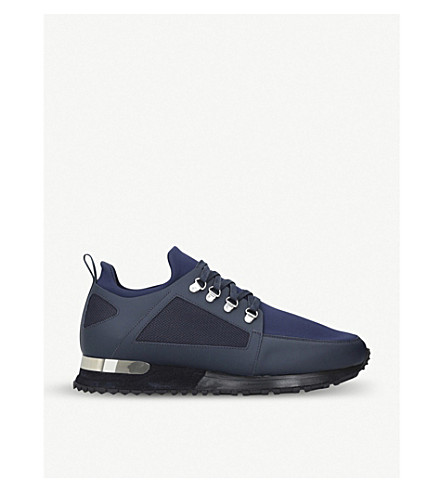 MALLET Hiker leather and neoprene trainers (Navy