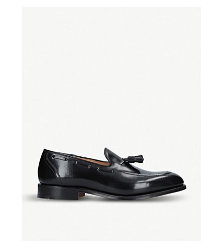 CHURCH 金斯利 2 tassled 皮革乐福鞋 (黑色