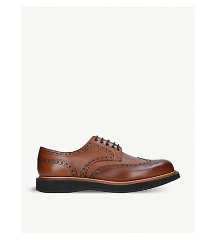 CHURCH中科天道皮革楔形德比鞋 (棕褐色