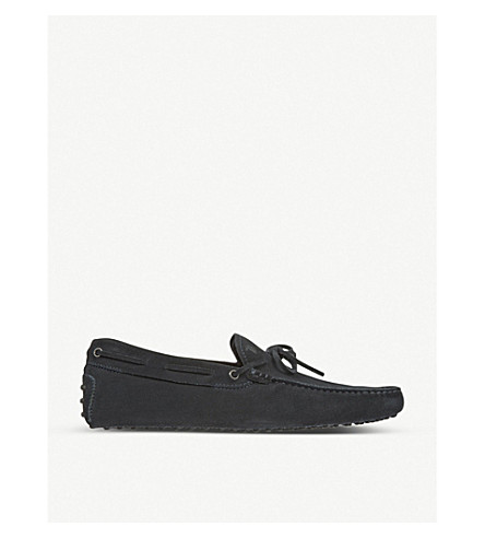 TODS Gommino heaven driving shoes in suede (Black