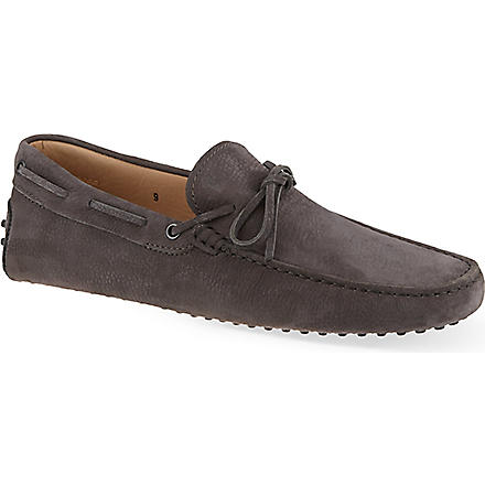TODS Gommino driving shoes in suede (Grey