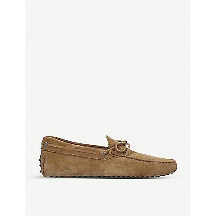 TODS Gommino Driving Shoes in Suede (Tan